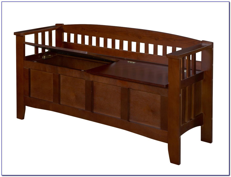 Wood Bench Storage Seat
