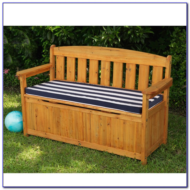 Wood Bench With Storage