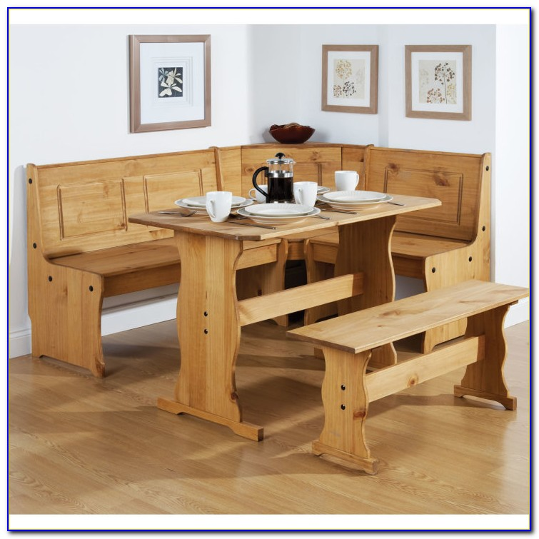 Wood Dining Table With Bench Seats