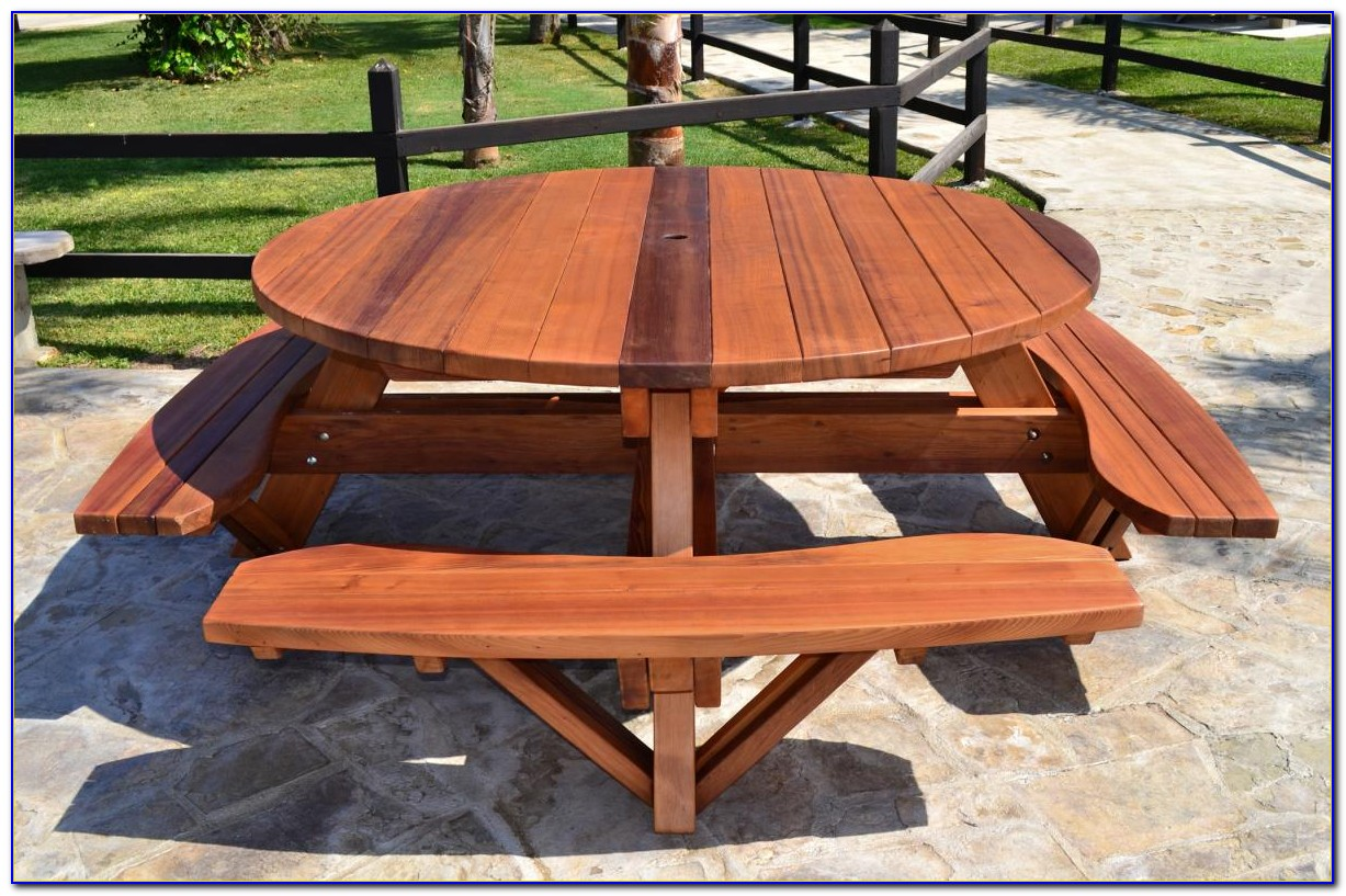 Wood Picnic Tables Without Benches