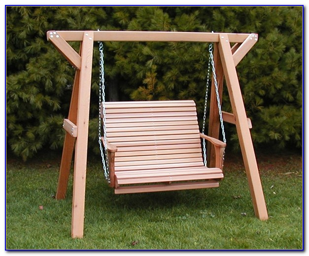 Wooden Garden Bench Swing Seat