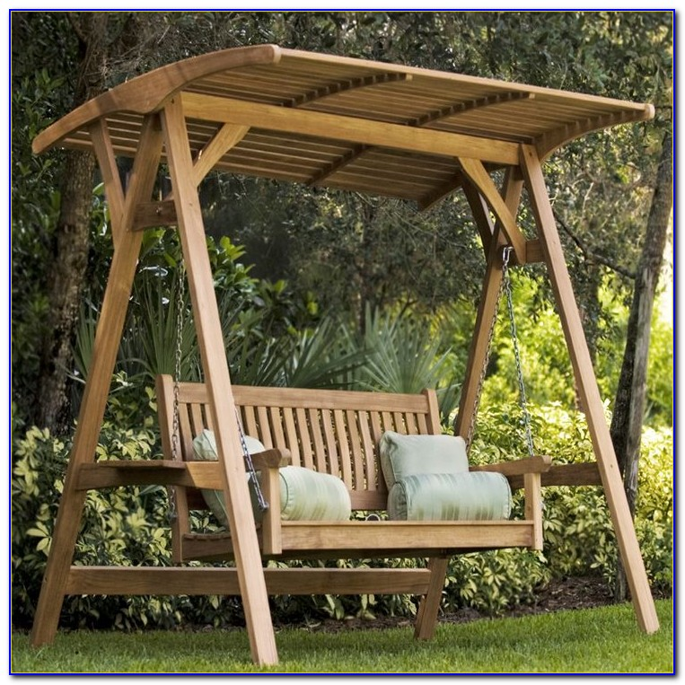 Wooden Garden Swing Bench Uk
