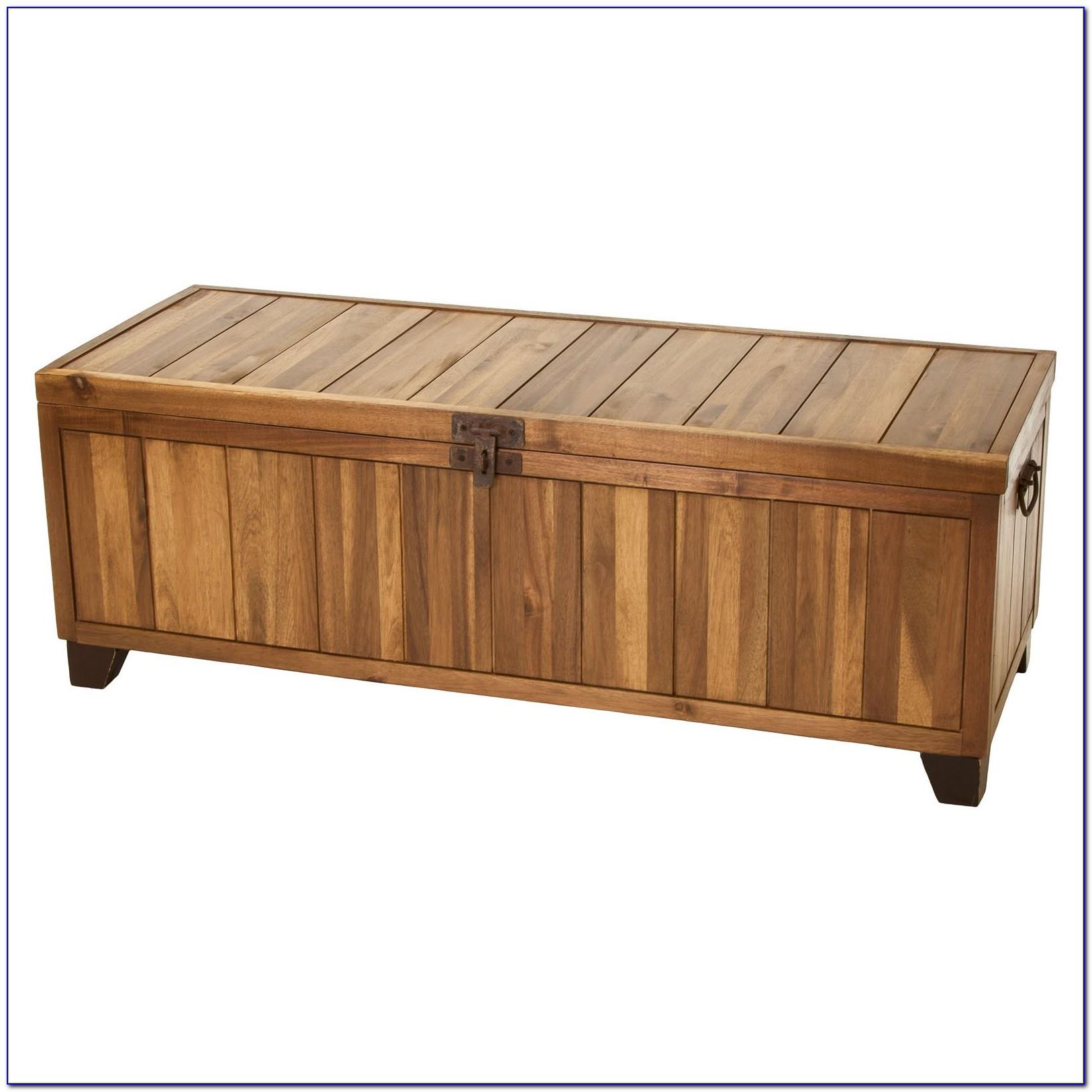 Wooden Storage Bench Seat Outdoor