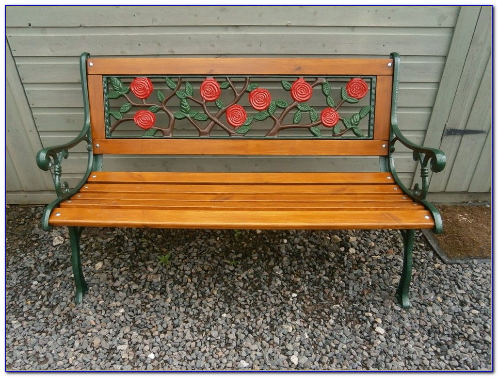 Wrought Iron Wood Benches Outdoor