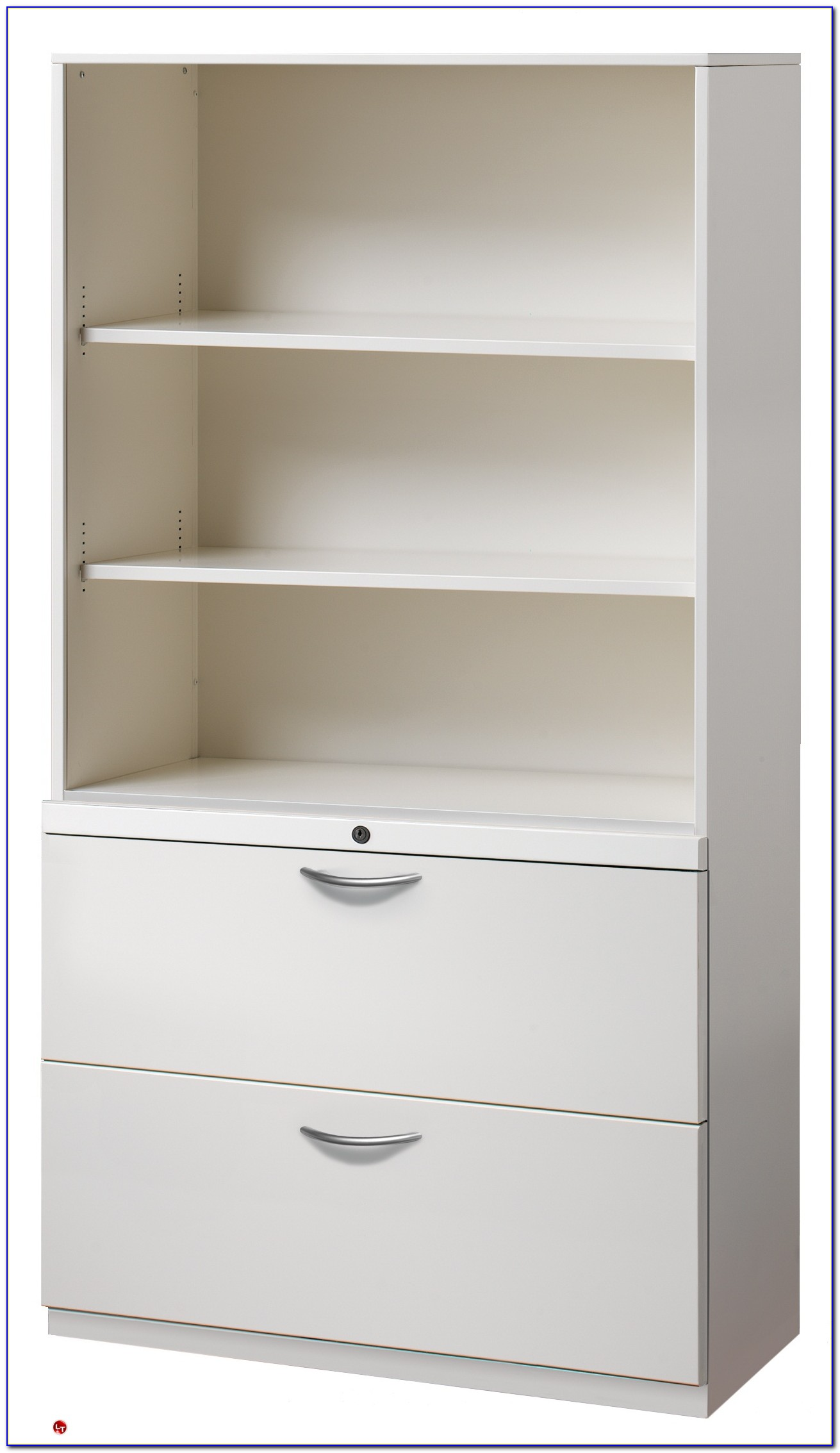 2 Drawer Lateral File With Bookcase