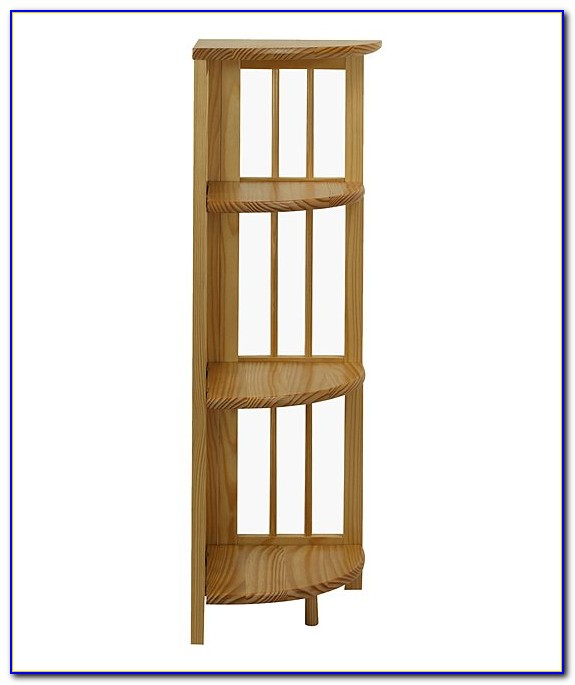 4 Tier Corner Folding Bookcase