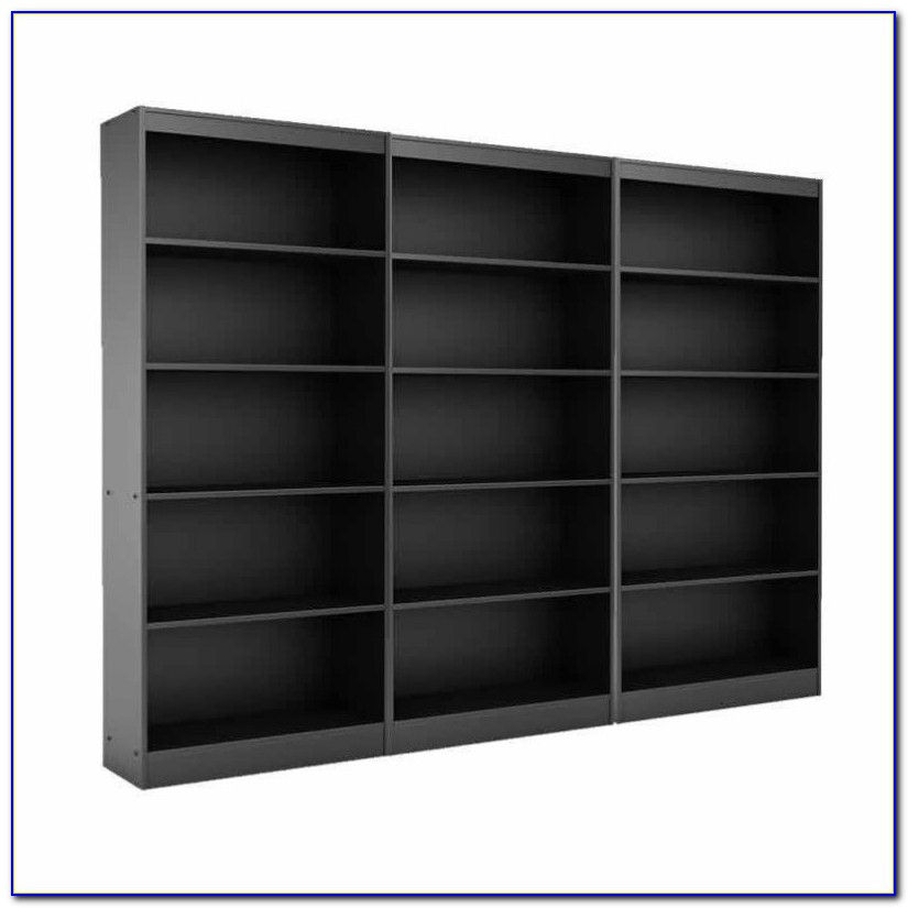 5 Shelf Black Bookcase
