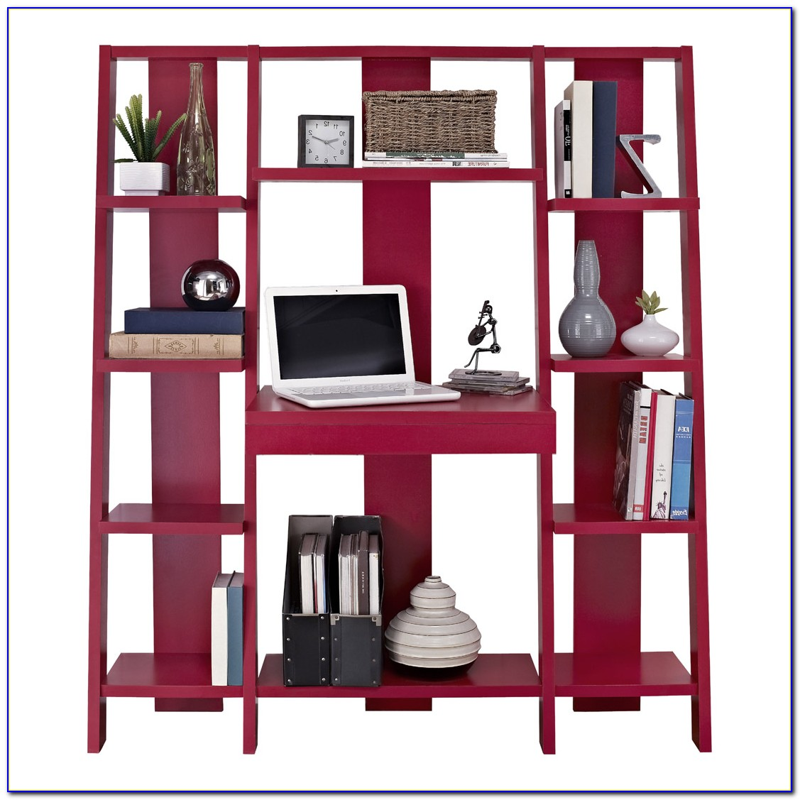 Altra Ladder Bookcase With Desk Red
