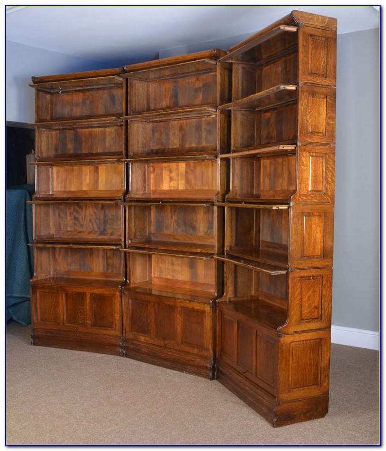 Amish Oak Barrister Bookcase