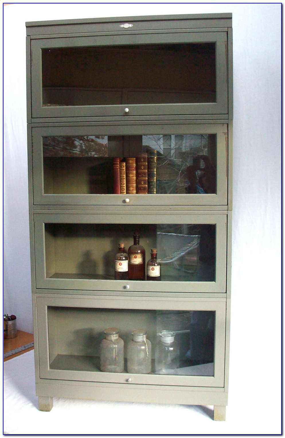 Austin Barrister Bookcase With Glass Doors