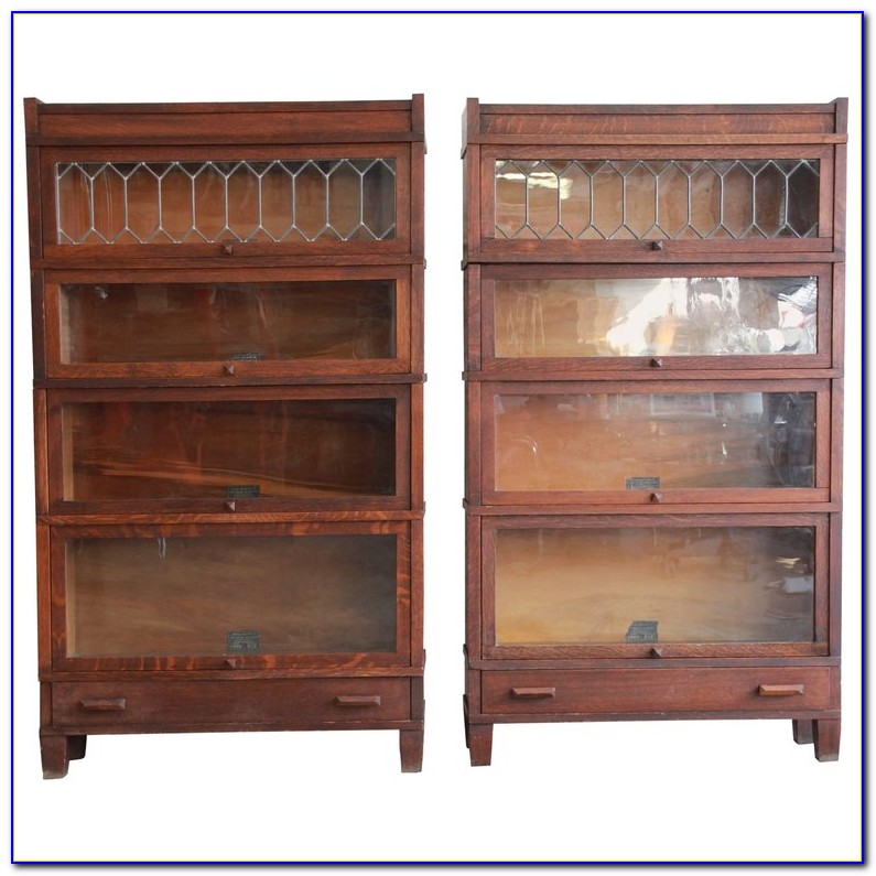 Barrister Bookcases With Glass Doors Antique
