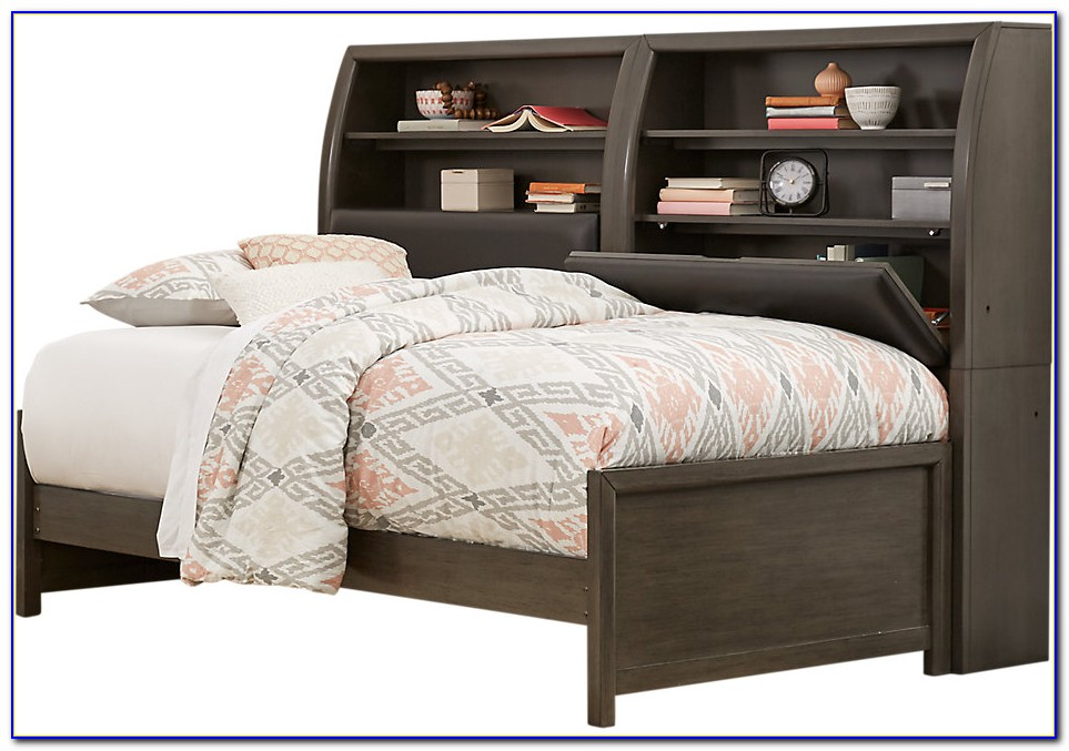 Benchmark Twin Size Bookcase Daybed With Underbed Trundle On Casters