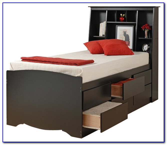 Billy Bookcase Platform Bed
