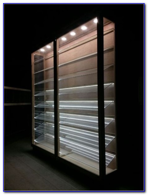 Black Bookcase With Glass Shelves