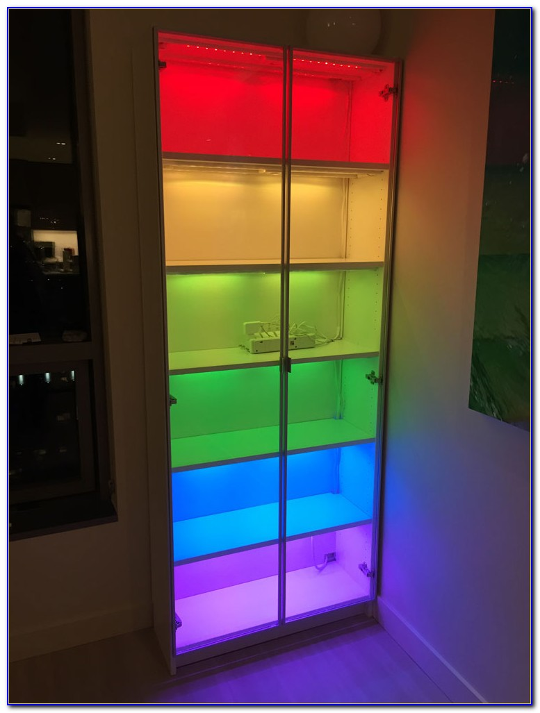 Black Bookcase With Lights