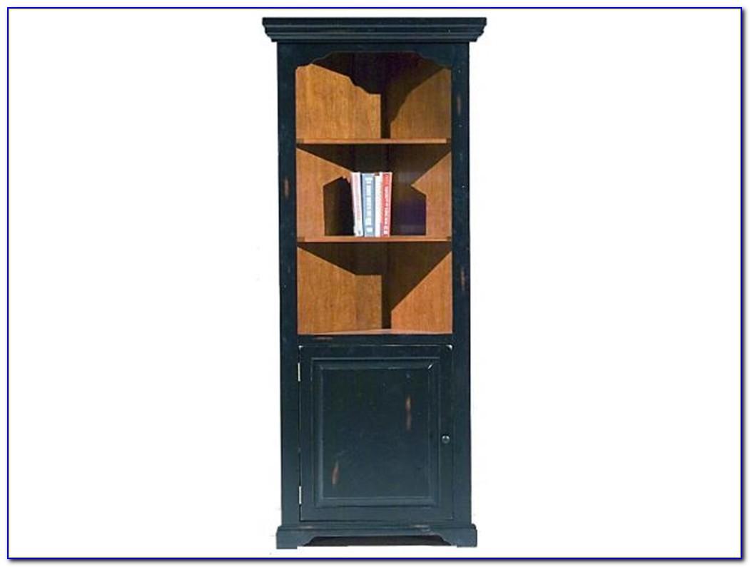 Black Corner Bookcase Cabinet