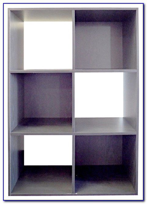 Black Cube Shelving Unit