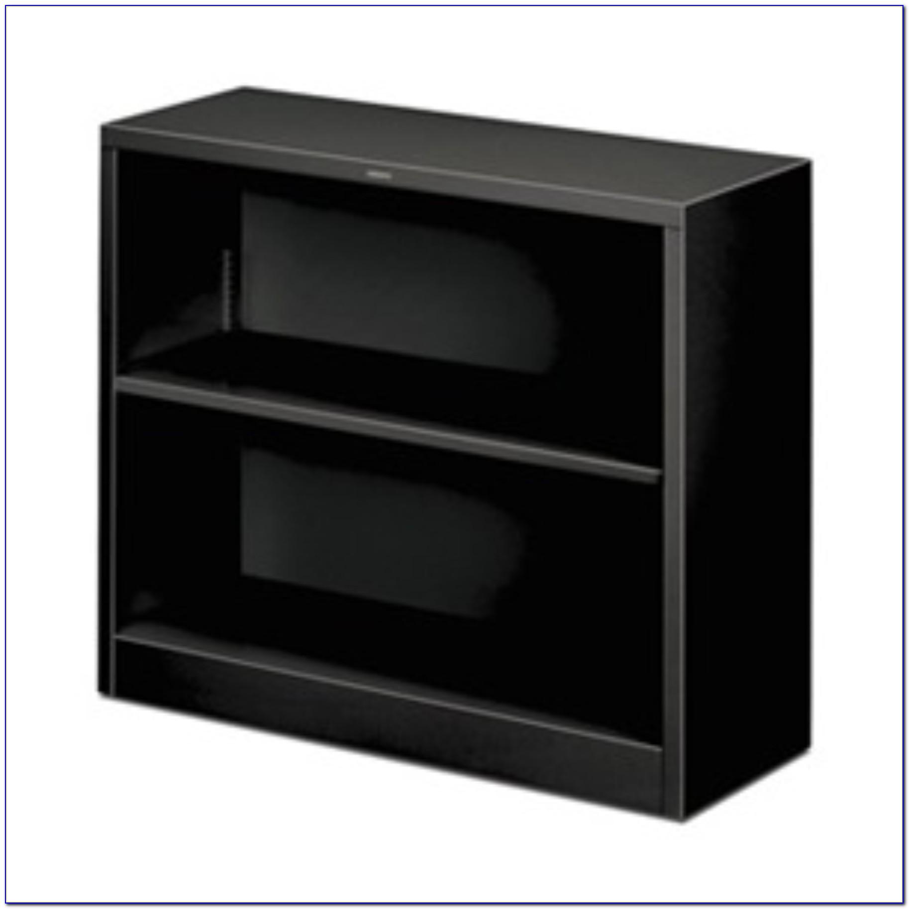 Black Wood 2 Shelf Bookcase