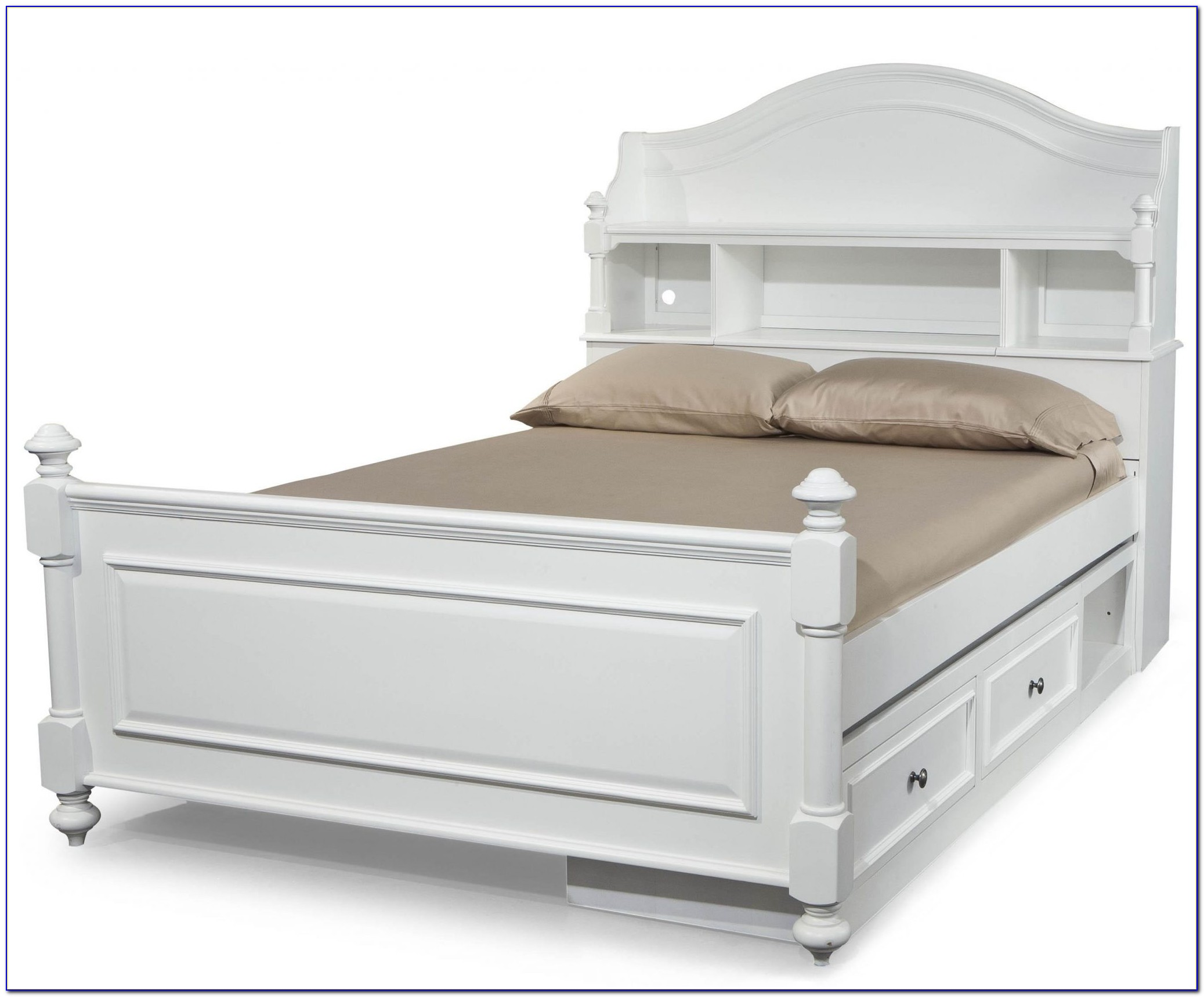 Bookcase Bed Full Size White