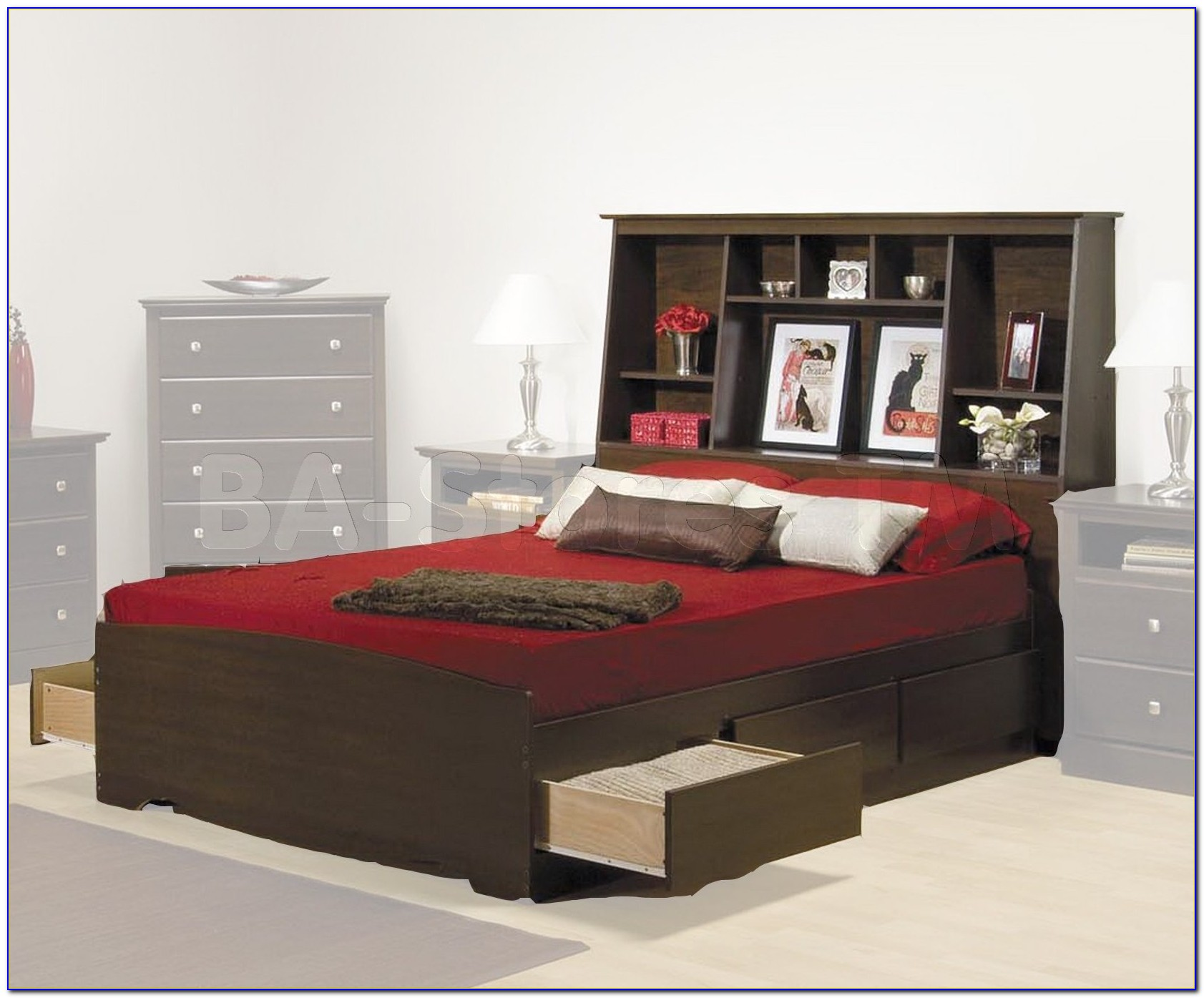 Bookcase Bed King Size