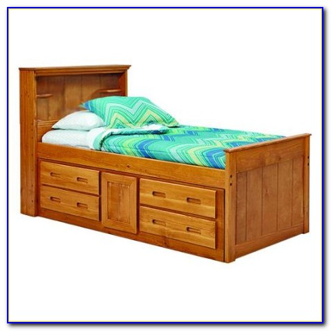 Bookcase Captains Bed Full