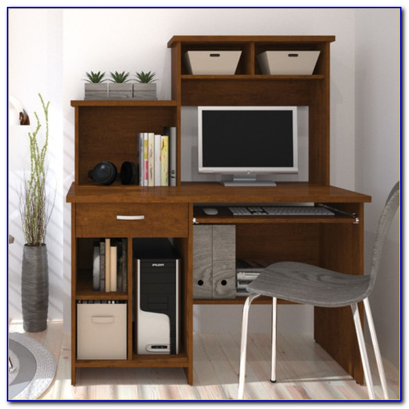 Bookcase Computer Desk Combo