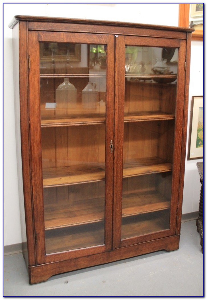 Bookcase Glass Doors Antique