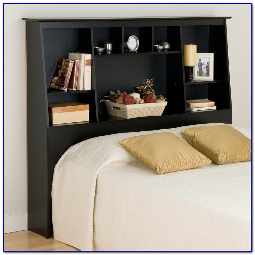 Bookcase Headboard Queen Bed