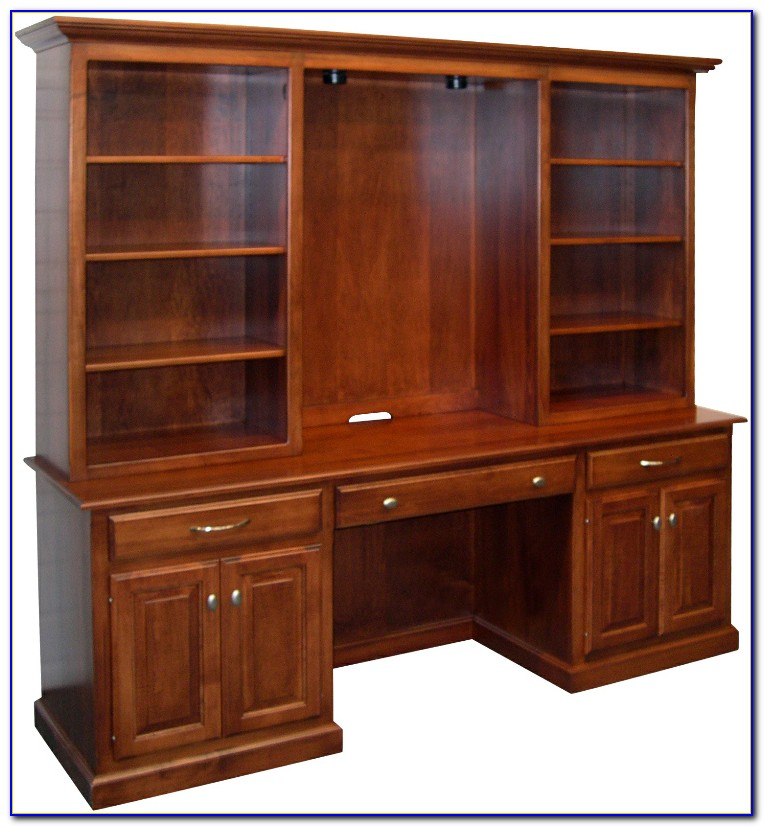 Bookcase Hutch With Doors