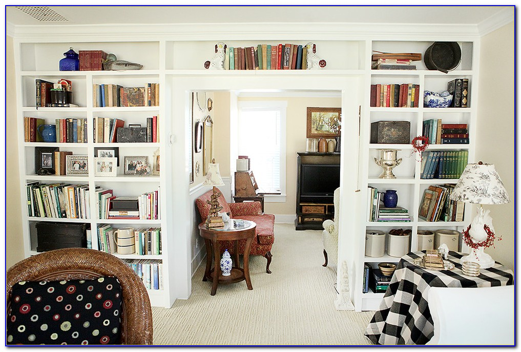 Bookcase Living Room Design