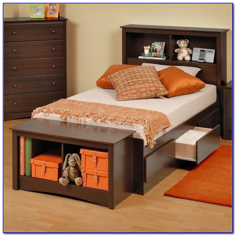 Bookcase Platform Bed King