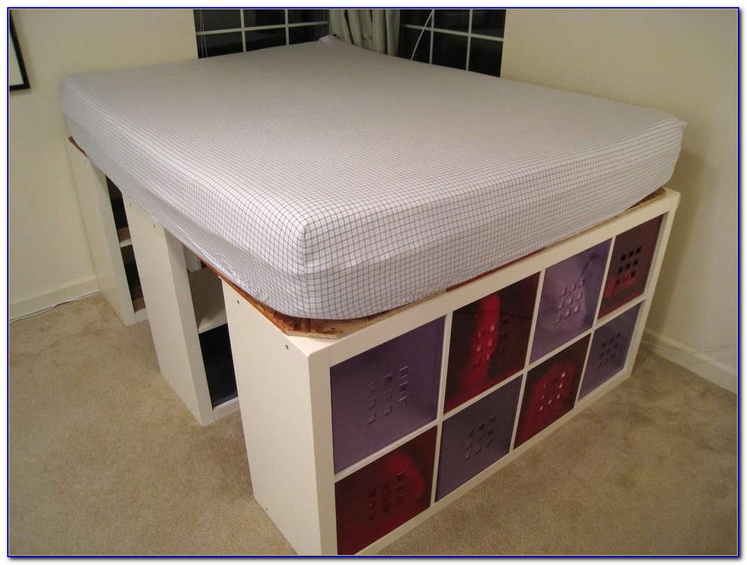 Bookcase Platform Bed Queen