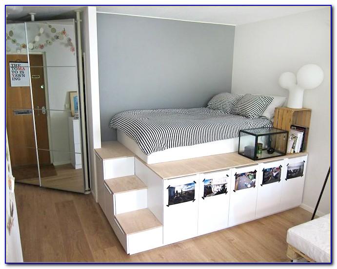 Bookcase Platform Storage Bed
