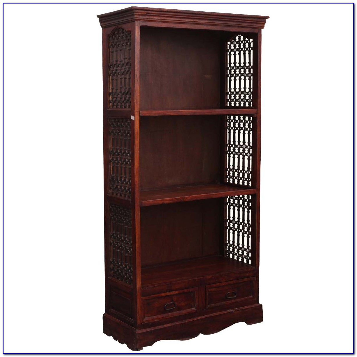 Bookcase Solid Wood White