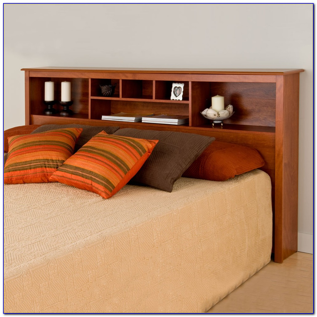 Bookcase Storage Bed King