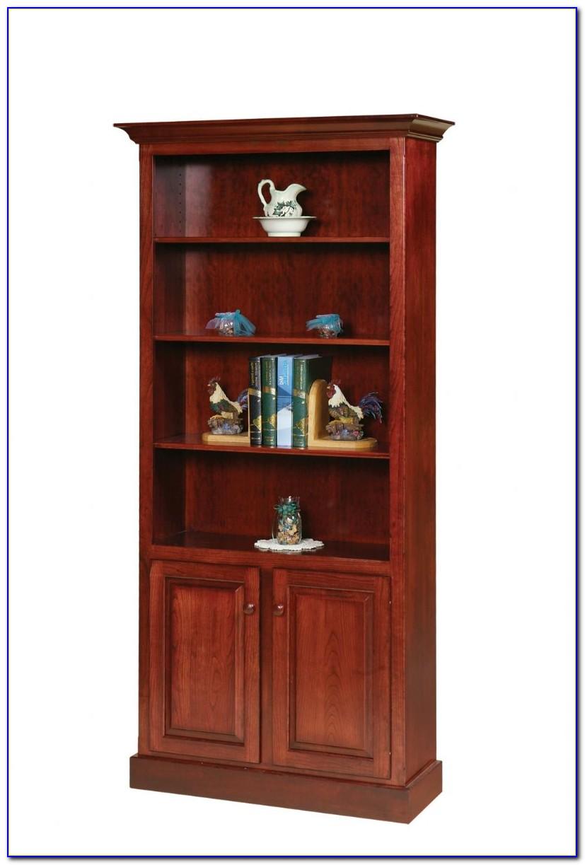 Bookcase Storage With Doors