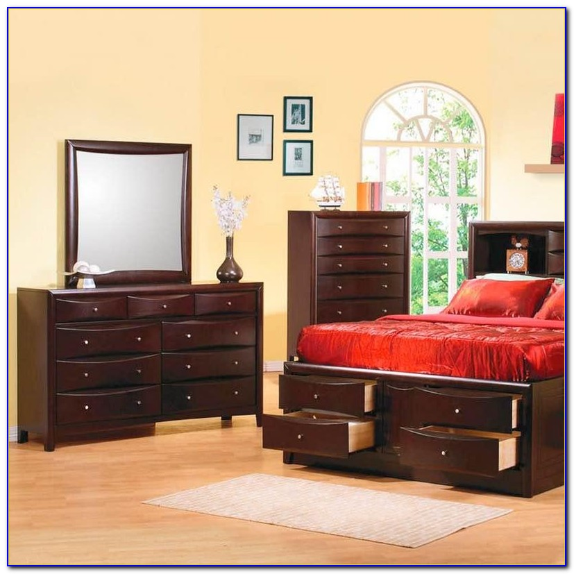 Bookcase Style Bedroom Sets