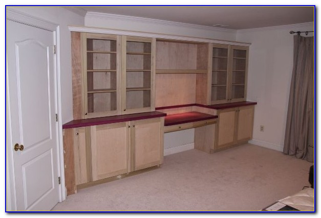 Bookcase With Built In Computer Desk