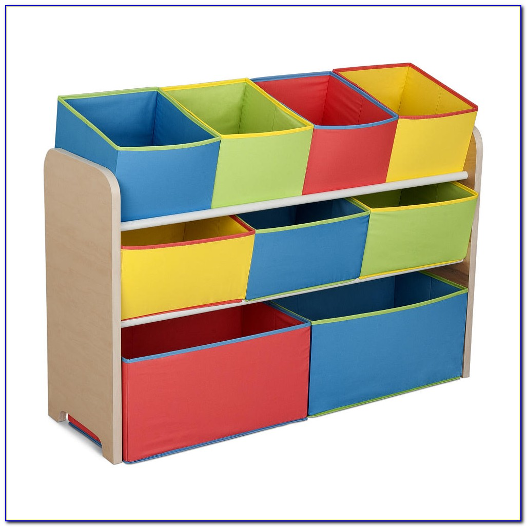 Bookcase With Fabric Bins