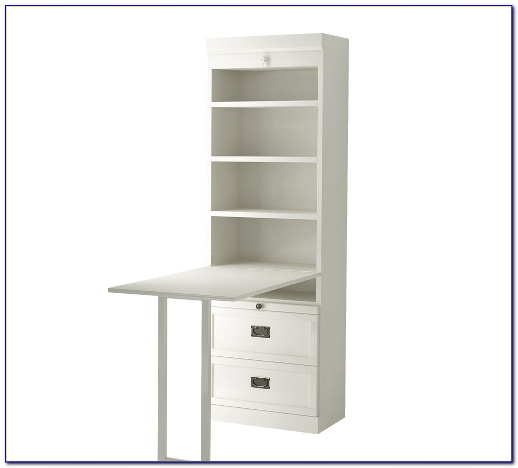 Bookcase With Fold Down Desk