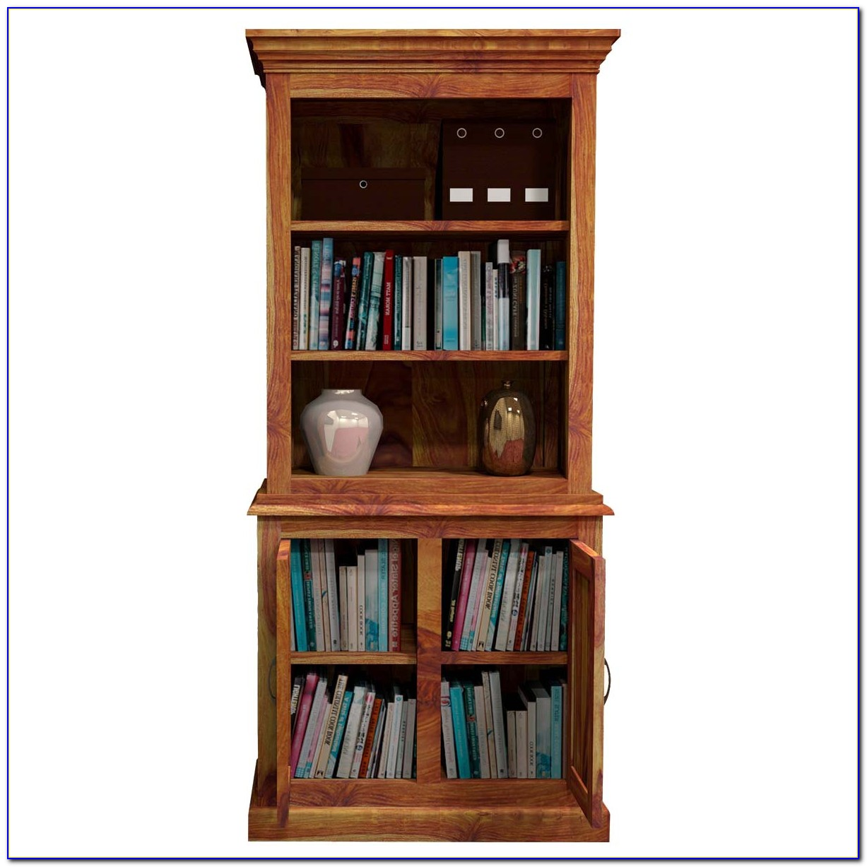 Bookcase With Lower Cabinets