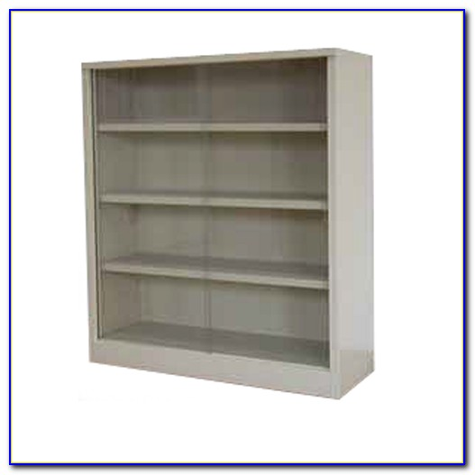 Bookcase With Sliding Glass Doors By Altra Furniture