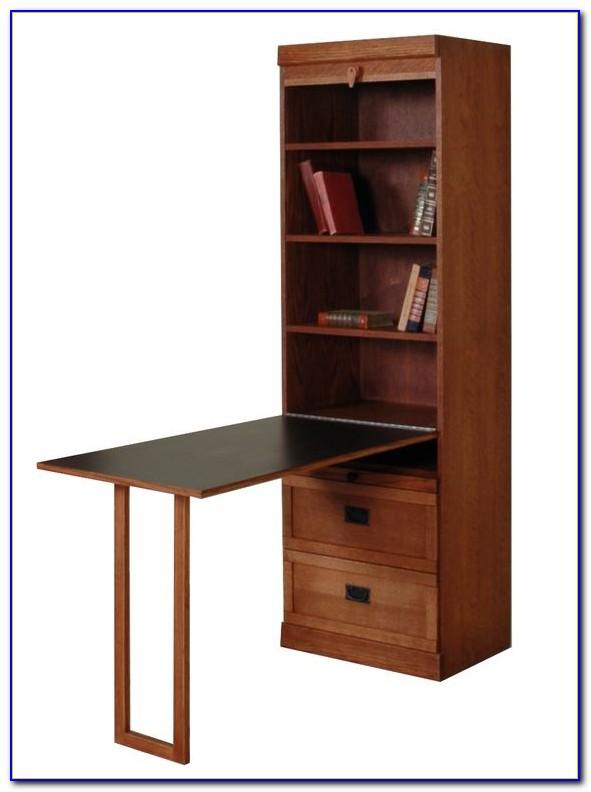 Bookshelf With Drop Down Desk