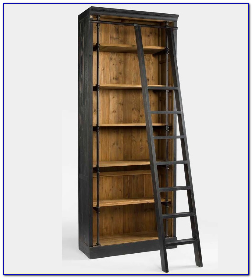 Bookshelves With Library Ladder