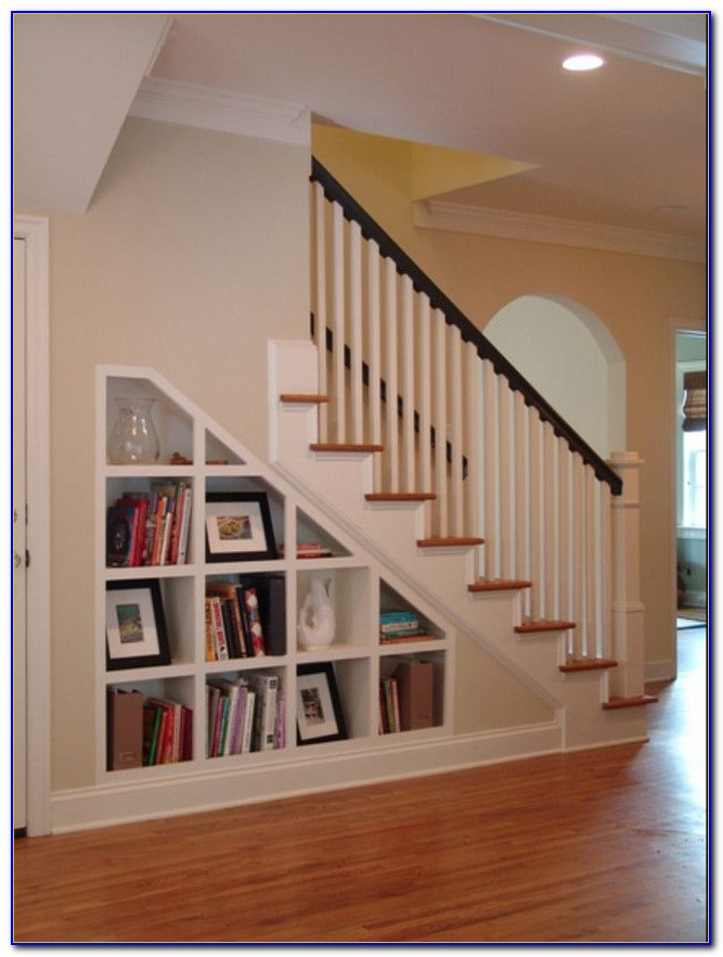 Build A Bookcase Under The Stairs
