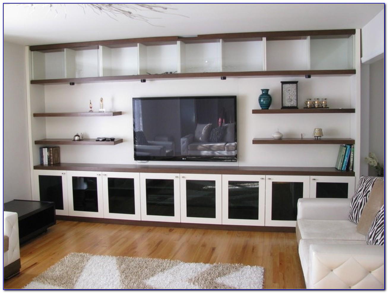 Built In Bookcase Media Center