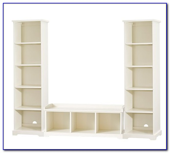 Built In Bookcase With Bench