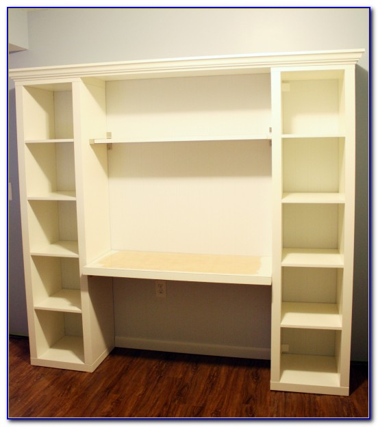 Built In Bookcase With Desk Plans