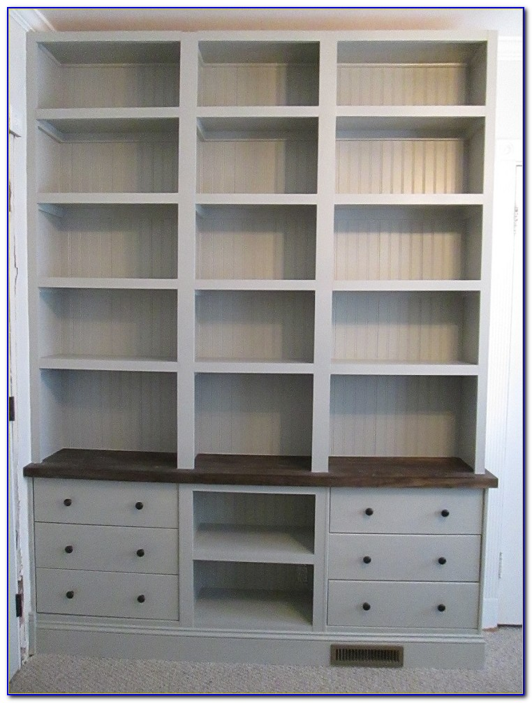 Built In Bookcases Ikea Hack