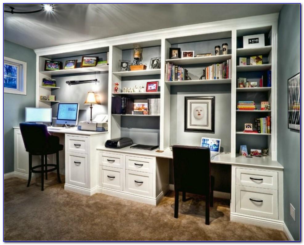 Built In Desk With Bookcase Design Ideas